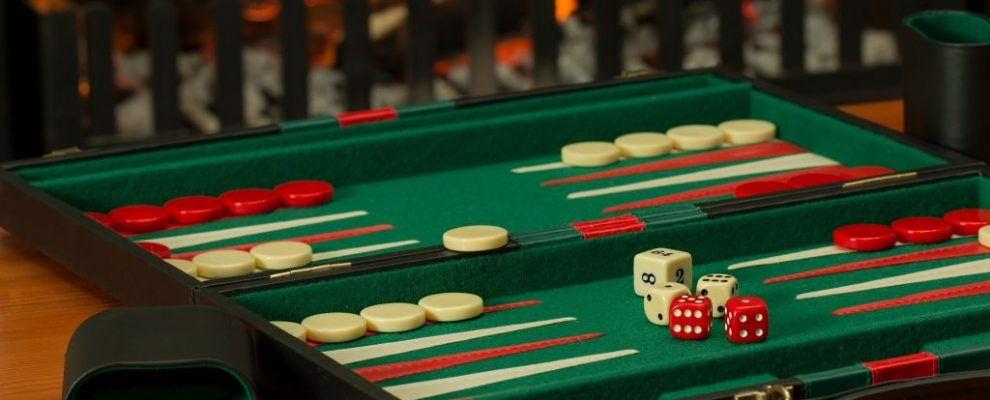 Backgammon Board Game Fireside Competition